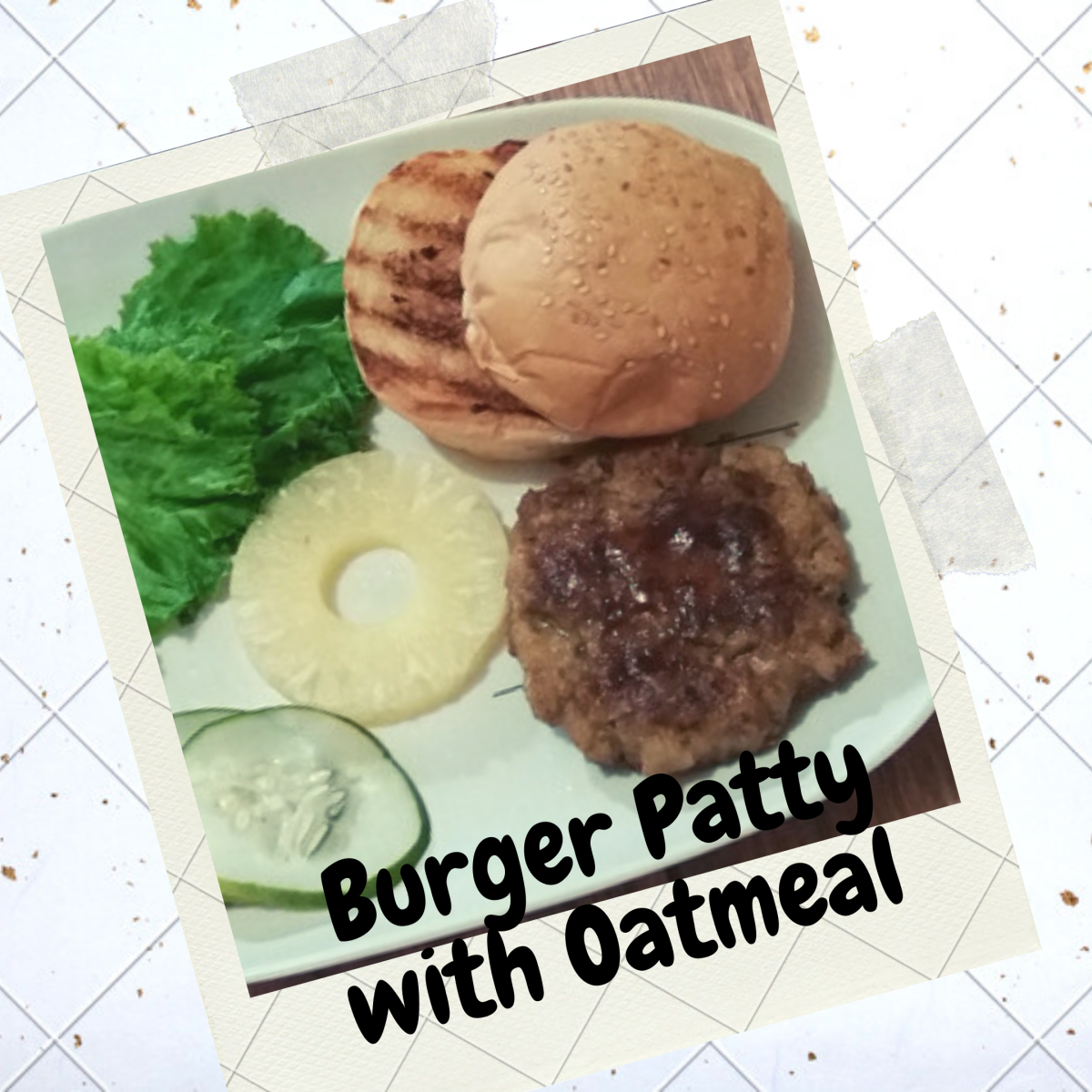Learn how to make a beef burger patty with oatmeal
