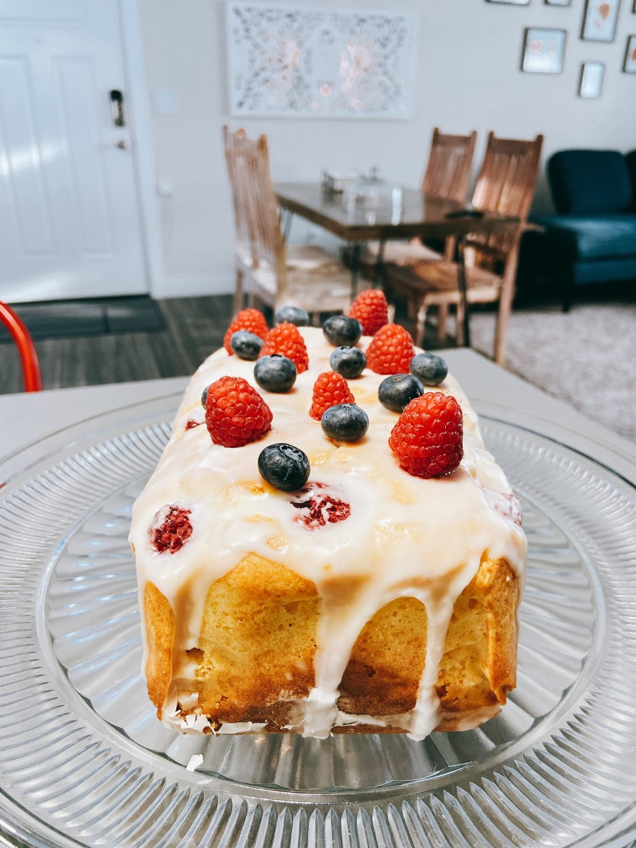Lemon Raspberry Bread With Lemon Glaze