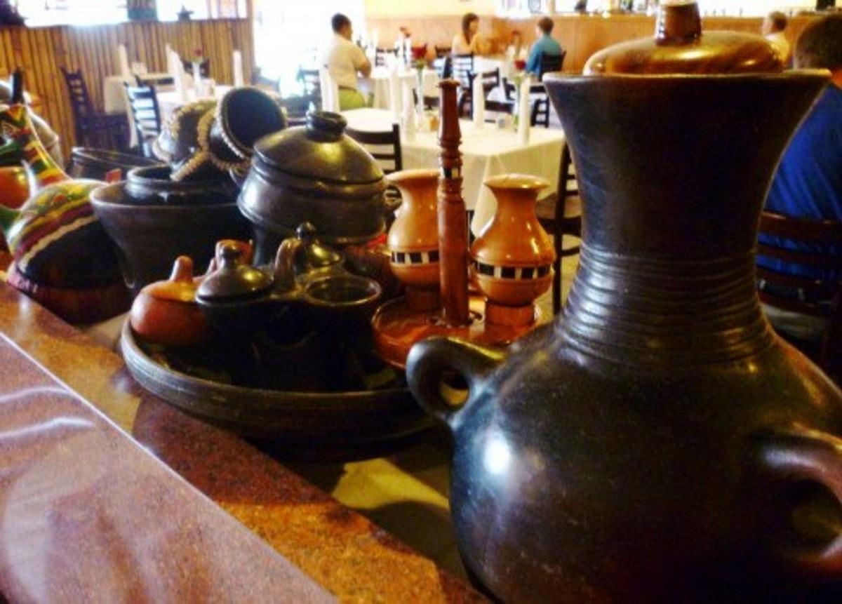 Interior of the Blue Nile, an Ethiopian restaurant in Houston