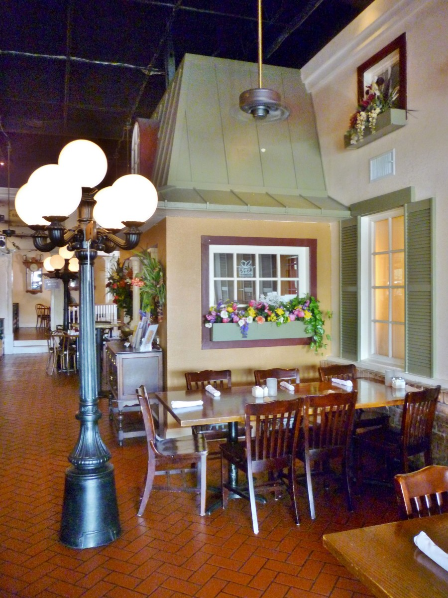 Interior of Clementines Restaurant