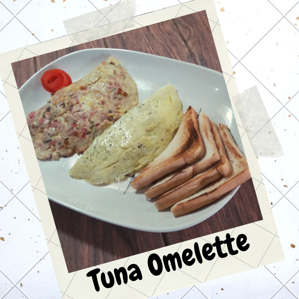 How to Cook Tuna Omelette ala 7-Eleven Busog Meal