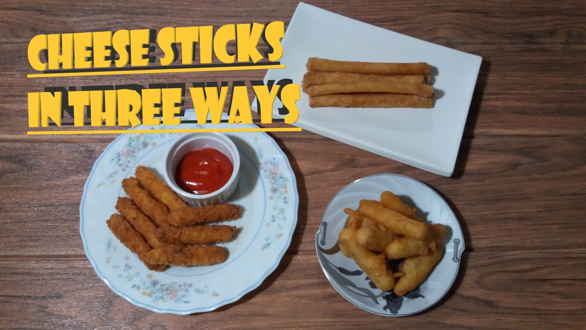 Learn three different ways to make fried cheese sticks
