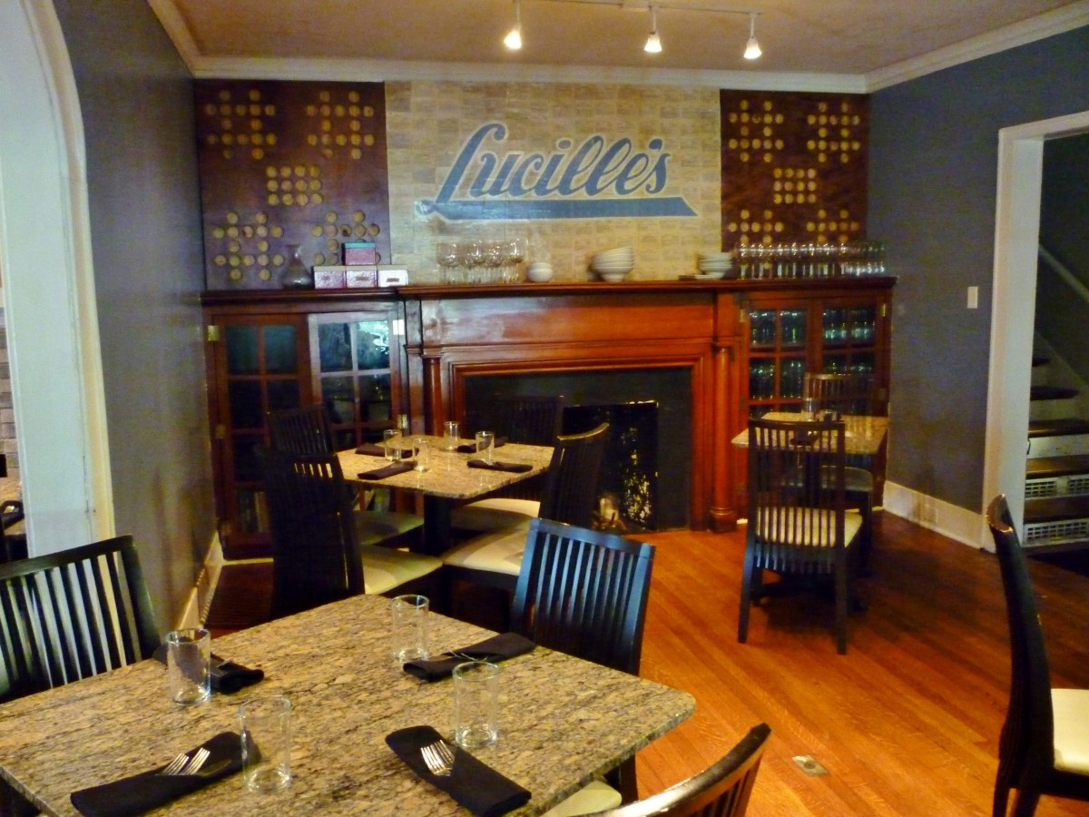A dining alcove at Lucille's
