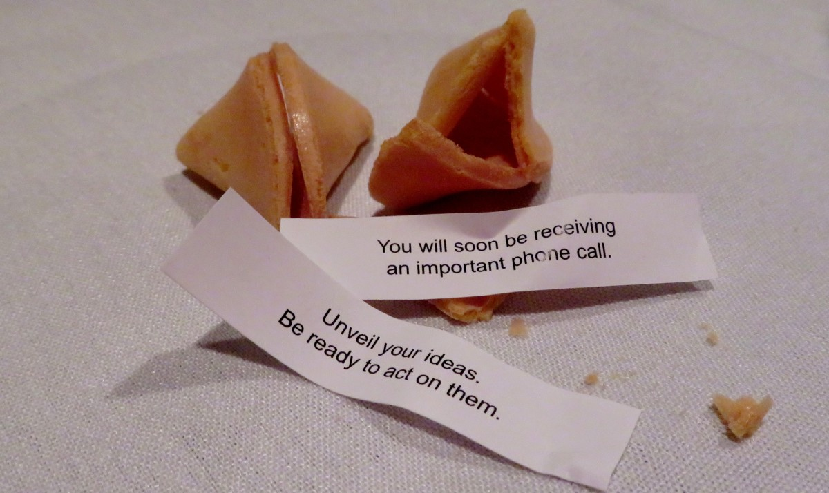 Our fortune cookies from the Shanghai River in Houston