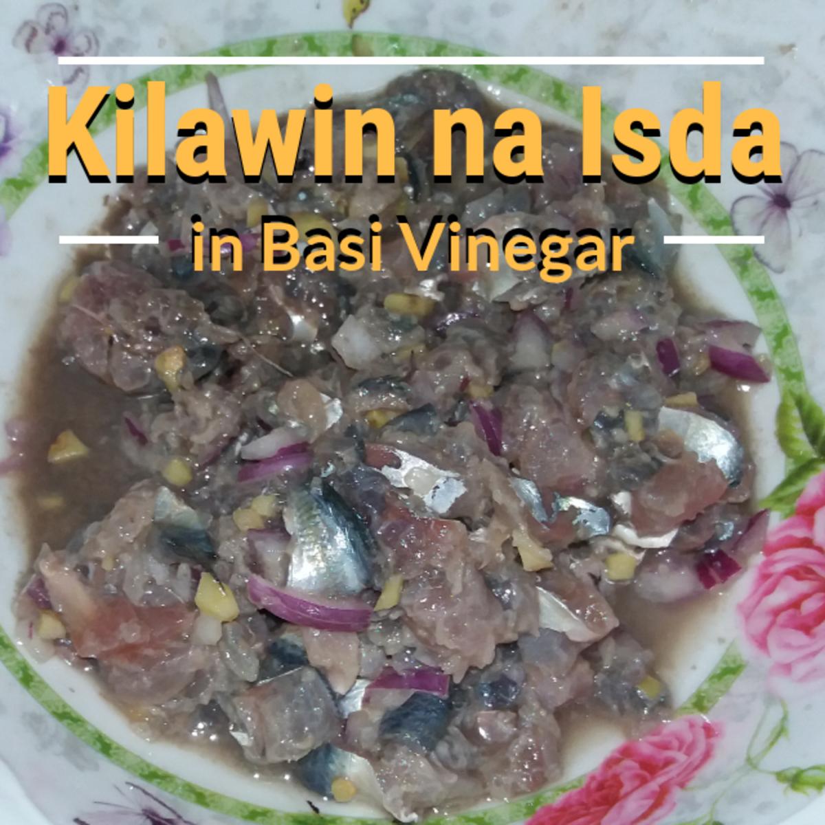 Filipino kilawin na isda in basi vinegar