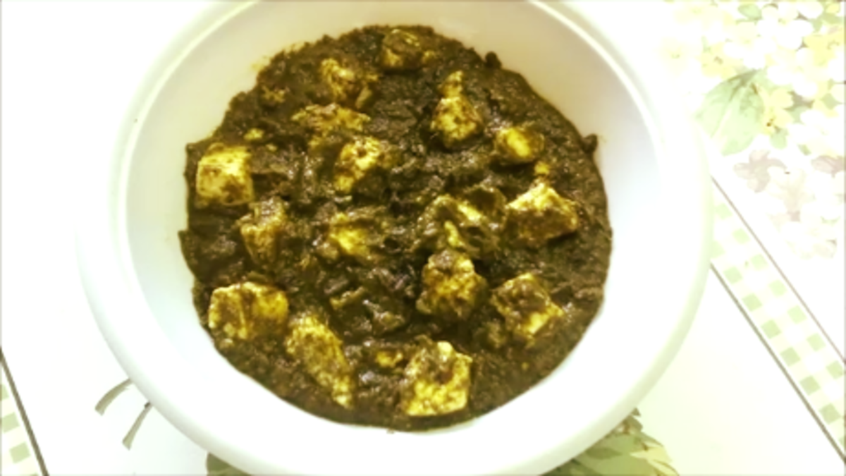 Palak Paneer Recipe (Cottage Cheese in Spinach Gravy)