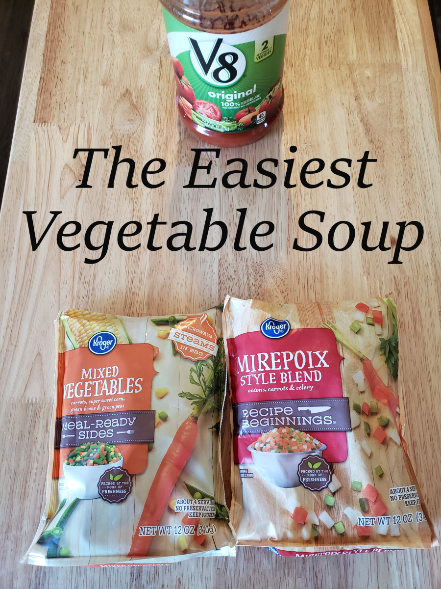 This vegetable soup has only four ingredients!