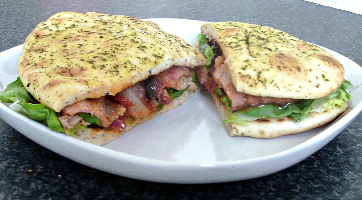 Chicken curry naan bread BLT is one of the recipes featured on this page
