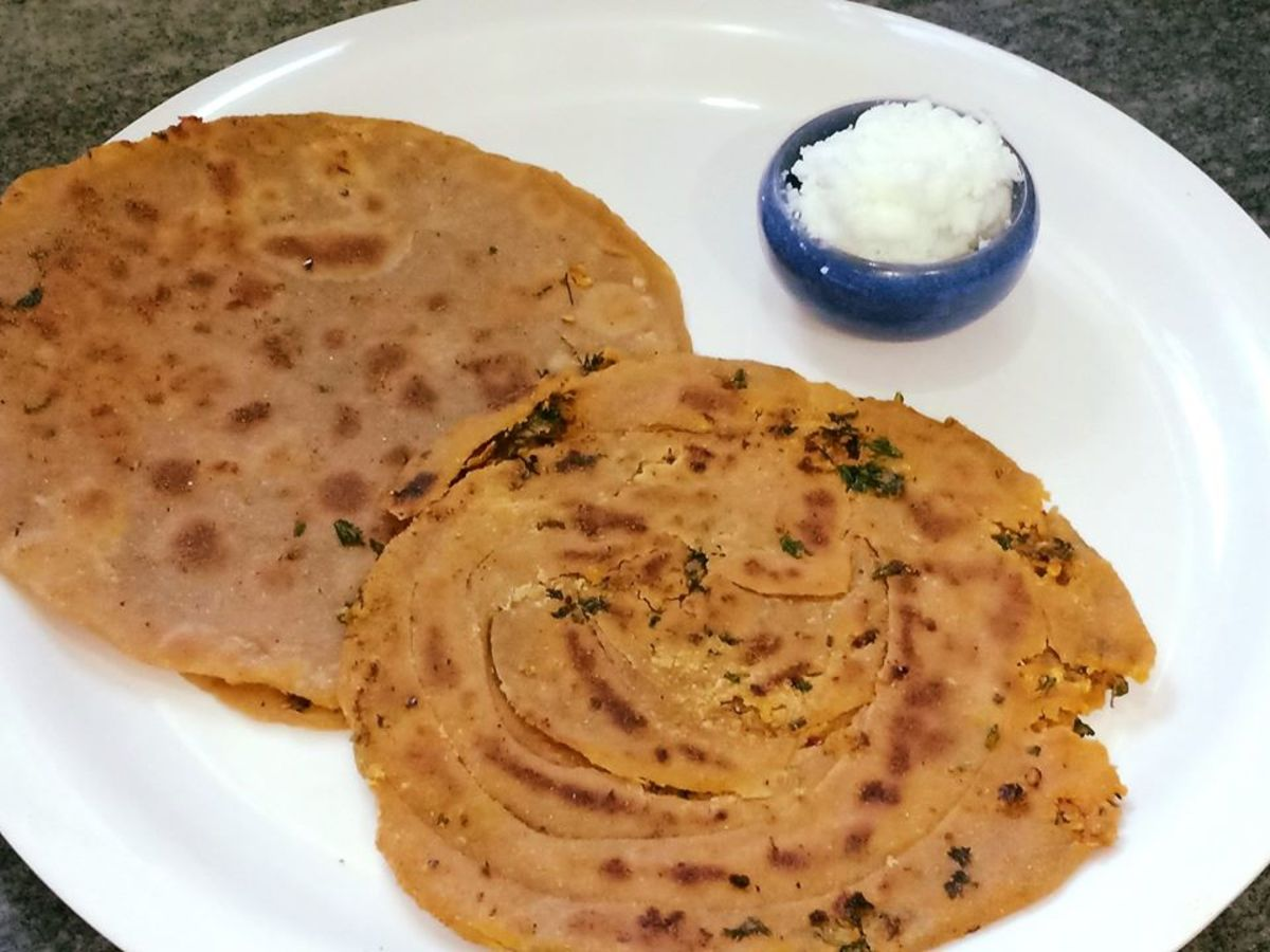 Garlic Parathas