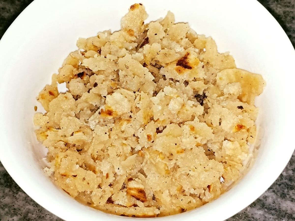 Roti Ki Churi: Salty Crumbled Roti