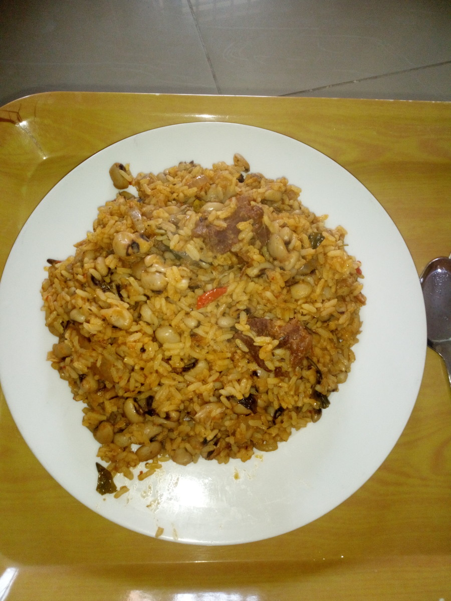 Nigerian Jollof Rice and Beans