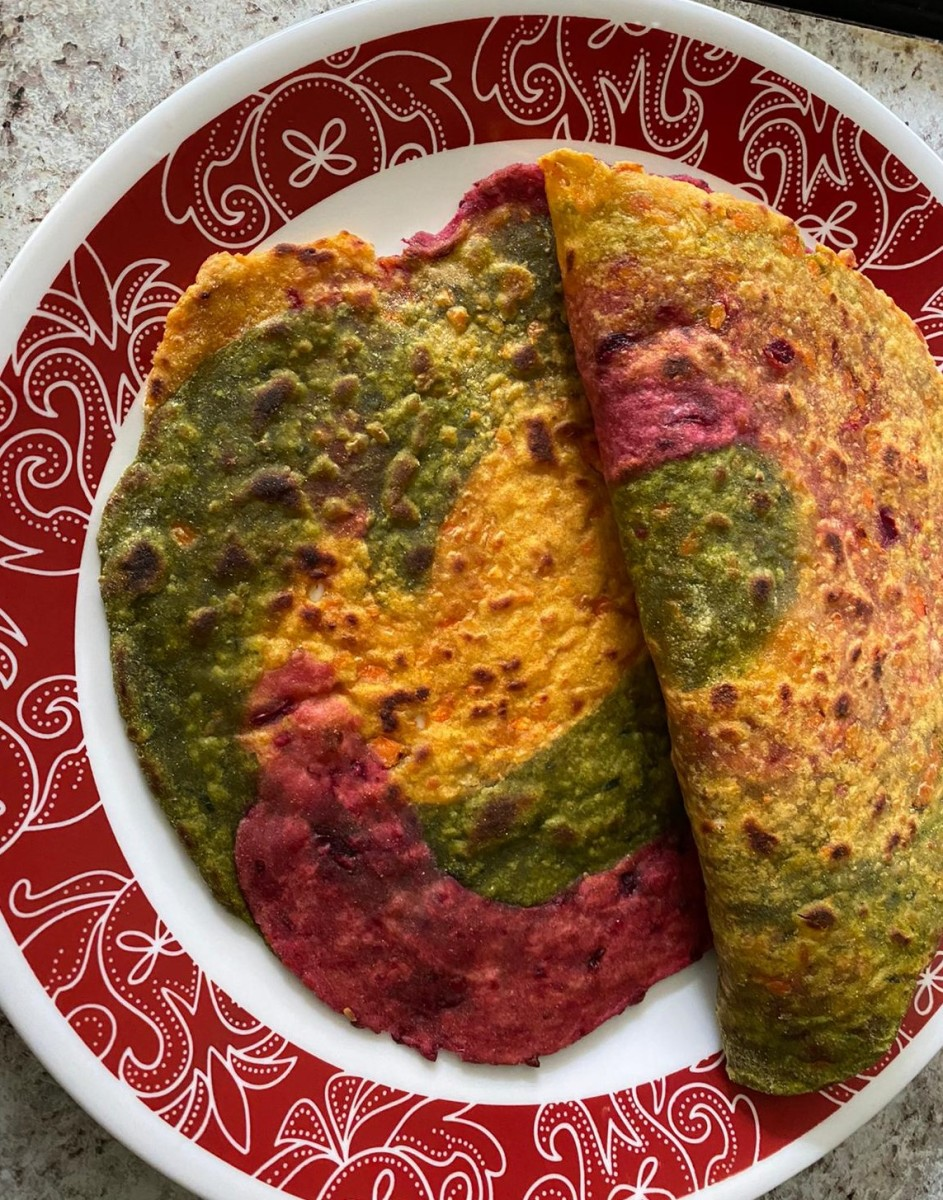 Rainbow Chapati Recipe