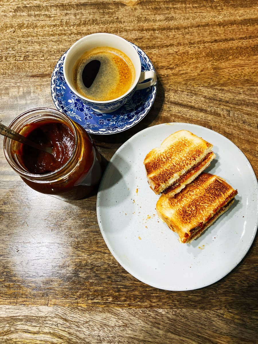 Srikaya toast with black coffee brings back memories of growing up in Malaysia