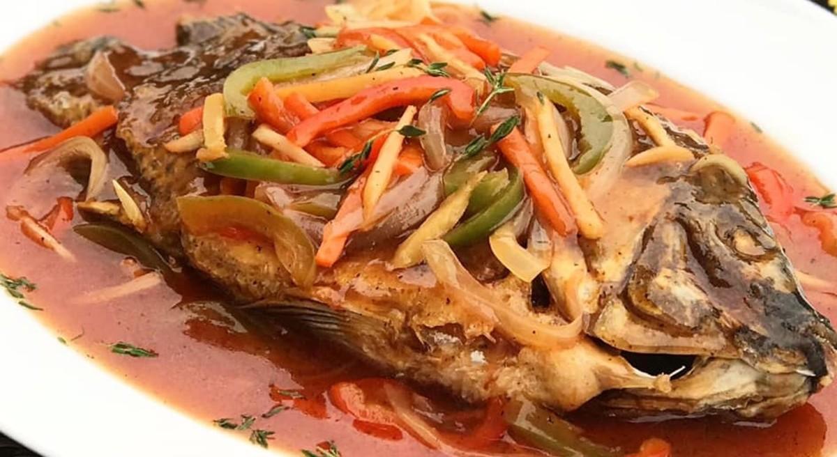 Filipino Style Escabeche Sweet And Sour Fish Delishably