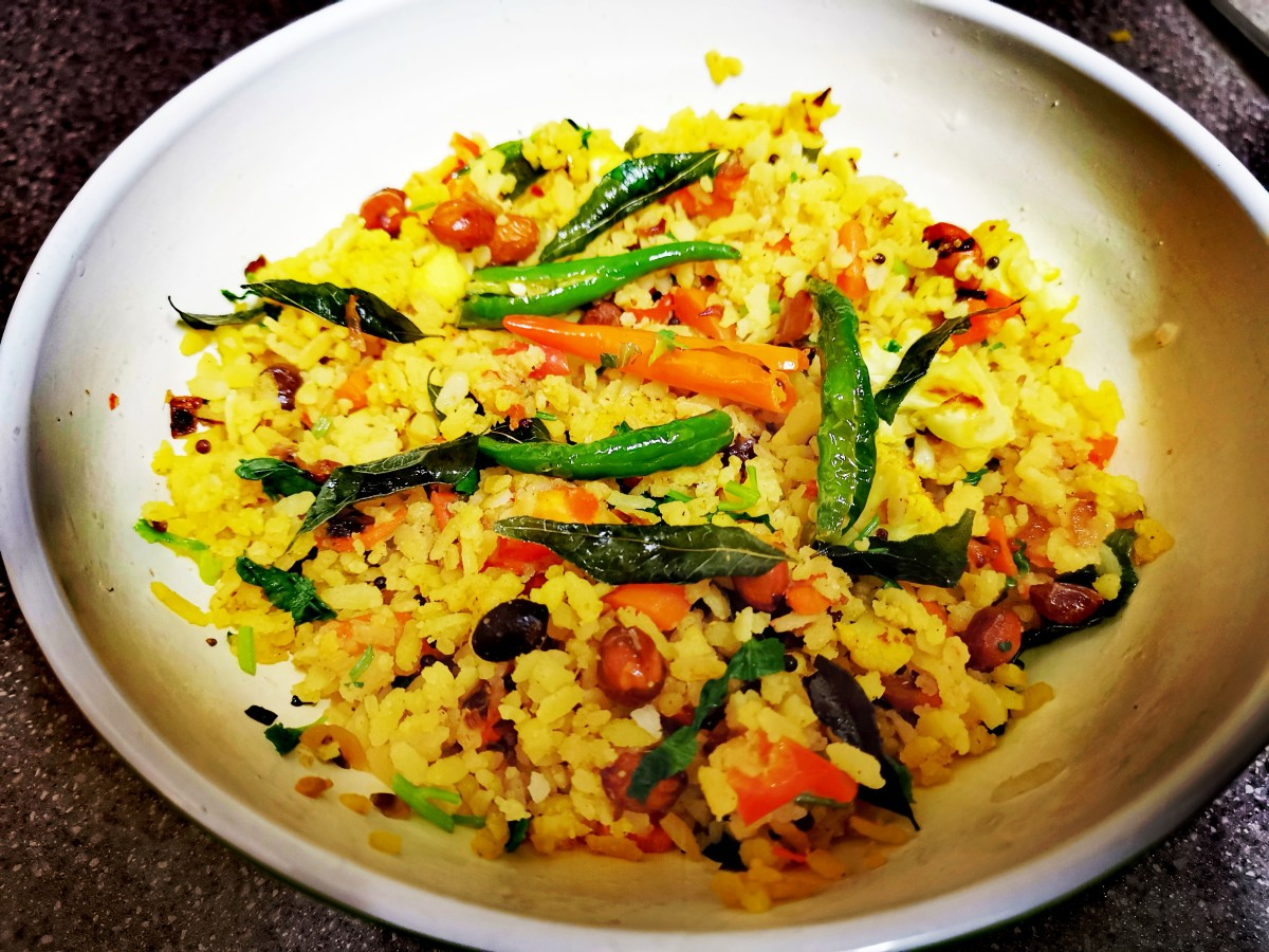 Flattened Rice Recipe (Poha)