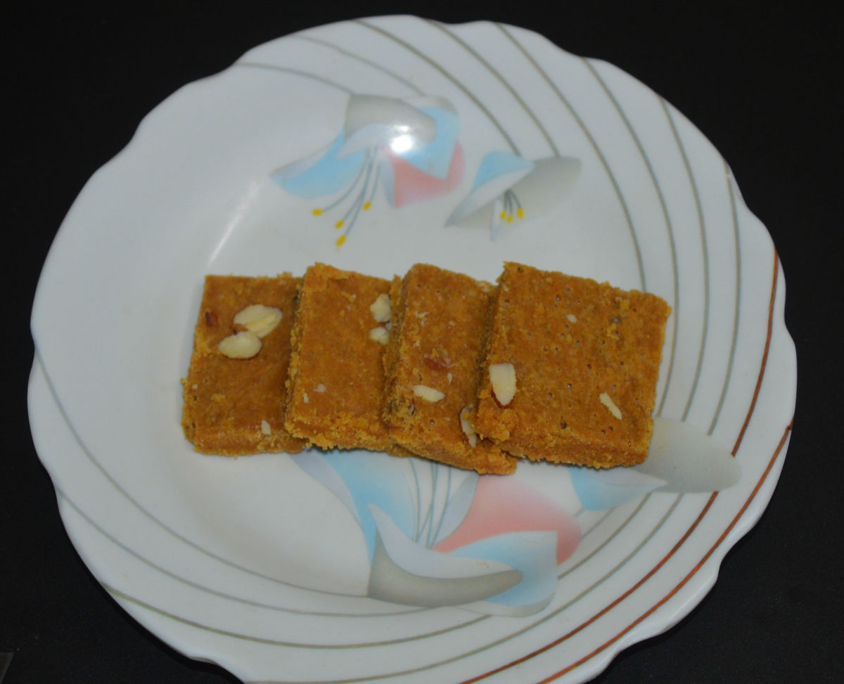 Besan Burfi (Chickpea Flour Sweet)