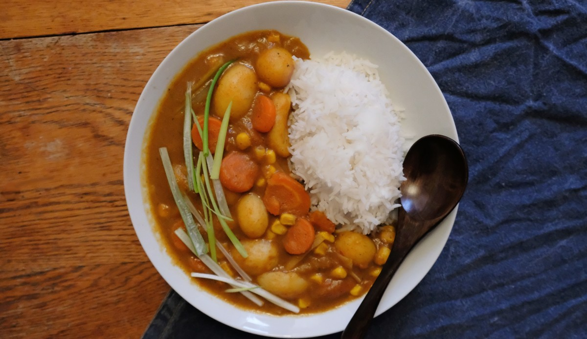 Vegan Japanese curry made from scratch in one hour