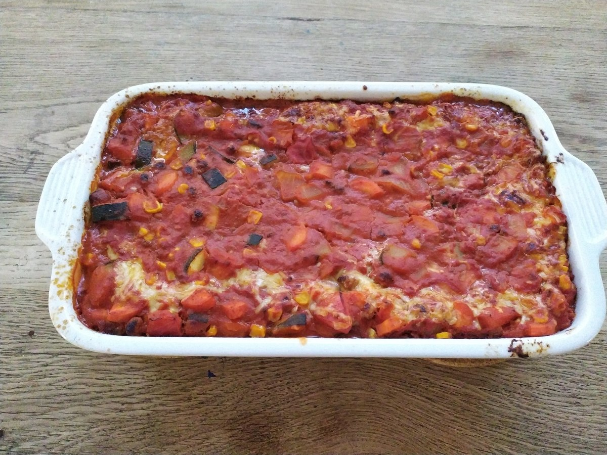 Vegetarian lasagna for dinner!