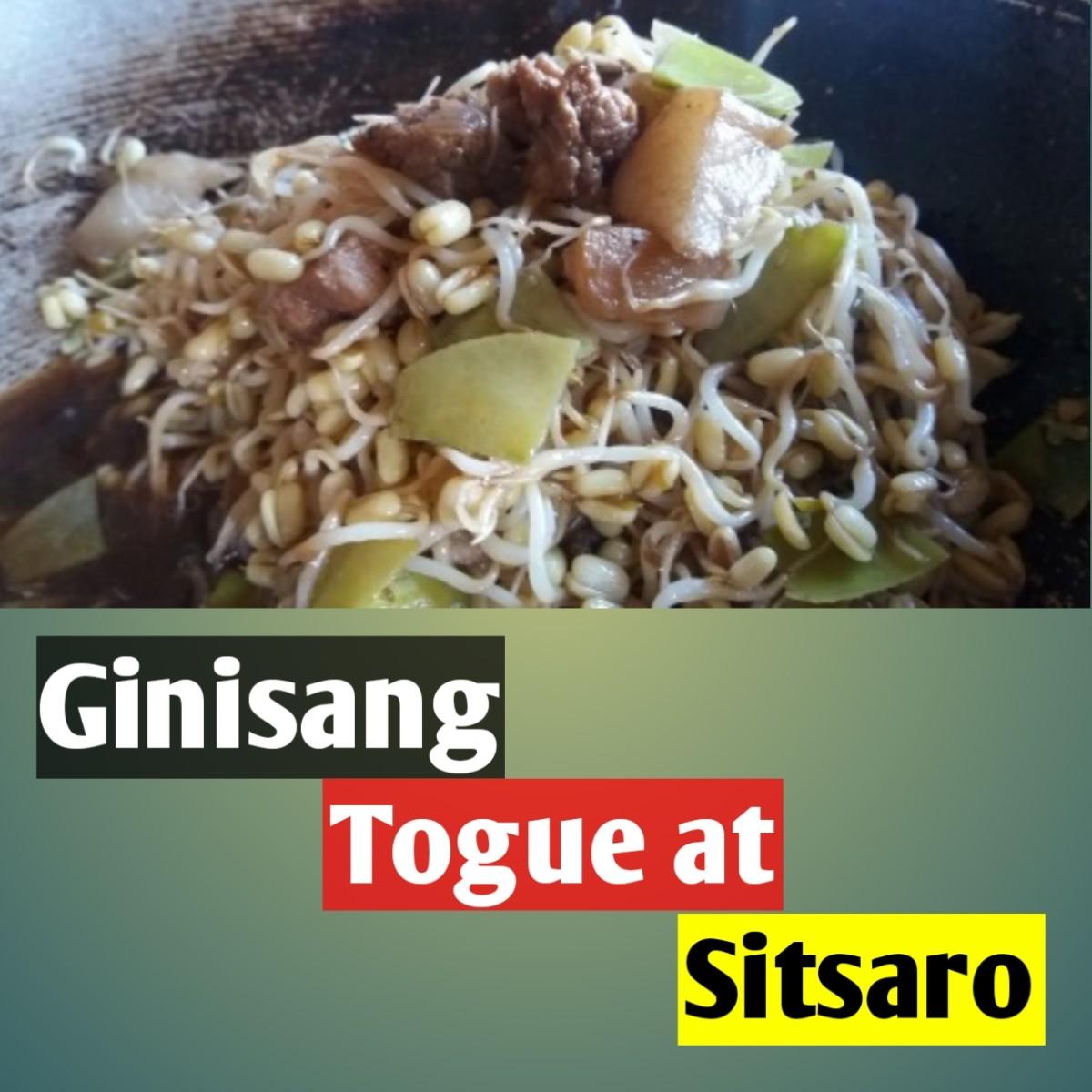 Ginisang Togue at Sitsaro (Sauteed Mung Beans and Snow Peas)