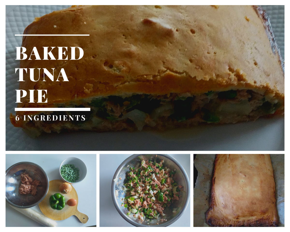 This baked tuna pie contains just six ingredients.