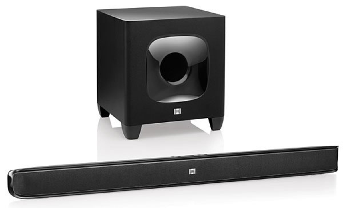 The JBL Cinema Soundbar features wireless connection with the subwoofer, Soundshift functionality, which lets you quickly play your smart device audio through the speakers, Bluetooth support, and much more.