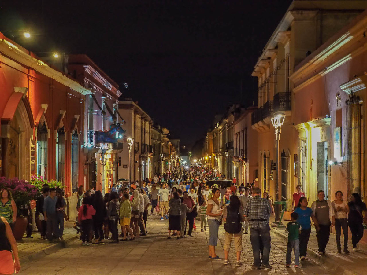 People having fun in San Cristobal de las Casas, Mexico