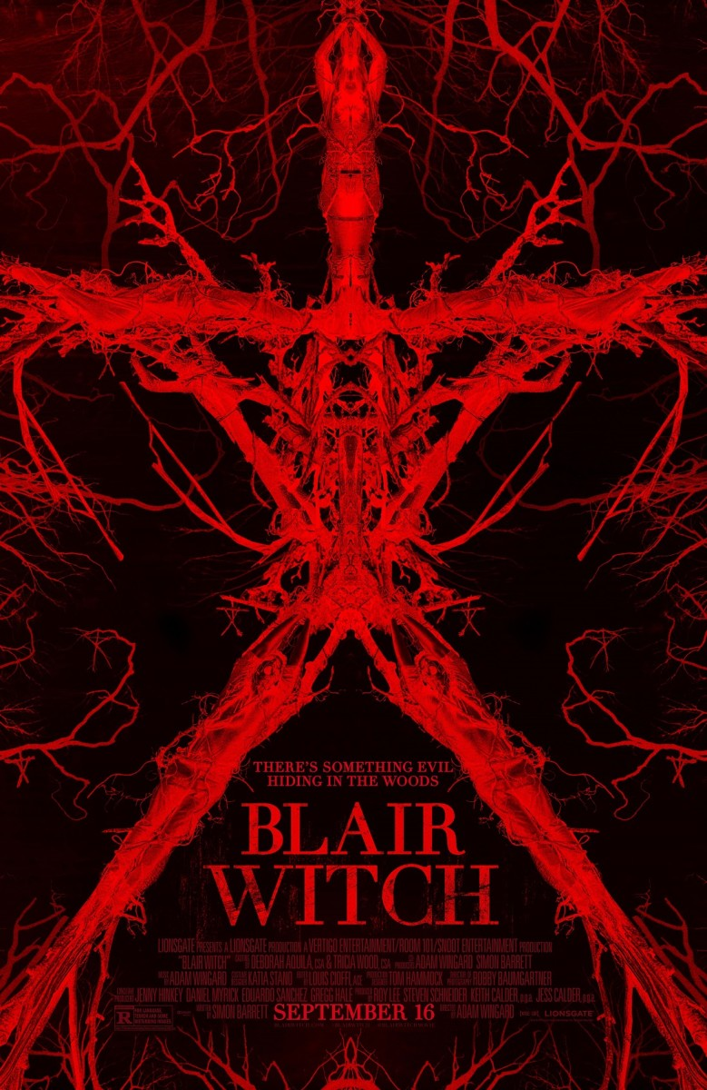 "The official final one-sheet theatrical poster for ""Blair Witch."""
