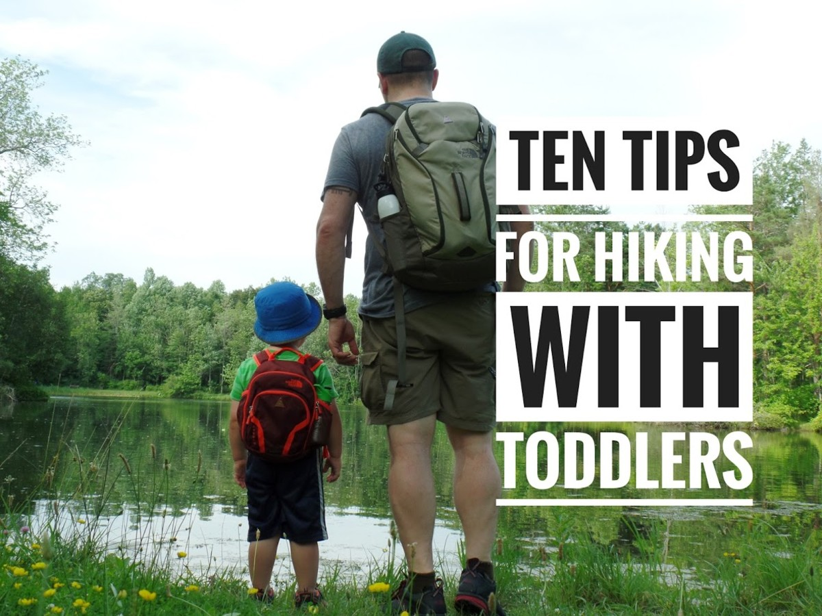 Ten tips for hiking with a toddler.