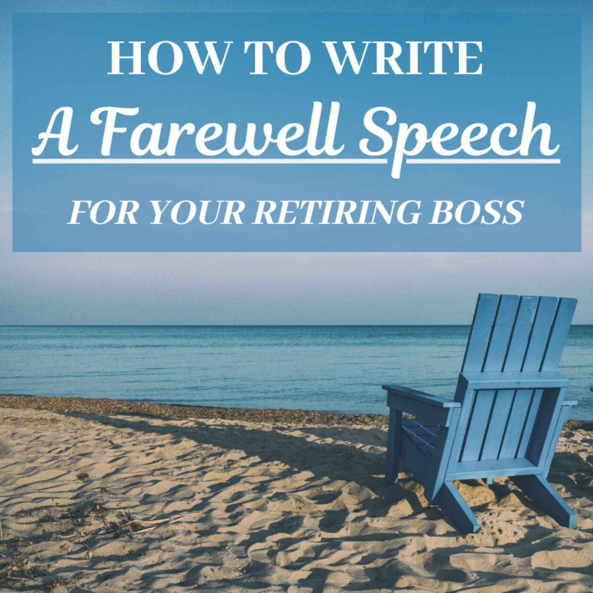 Writing a speech can be intimidating, especially if it's for a big event like a boss or manager's retirement. Here are some tips that will make the process easier.
