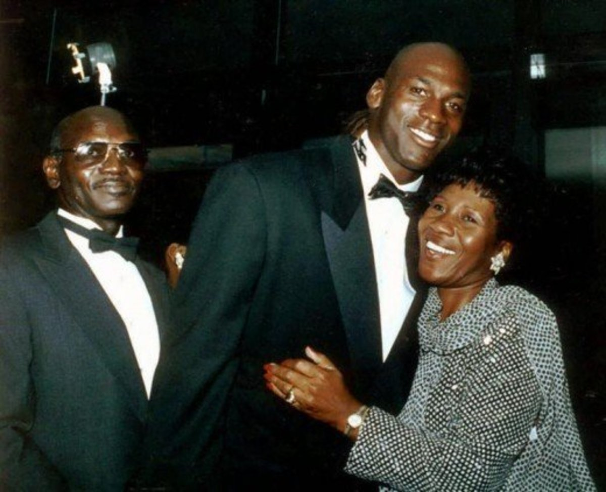 "Michael Jordan's father, James R. Jordan, was no more than 5'9"". MJ's mother, Deloris Jordan, was around 5'5""."