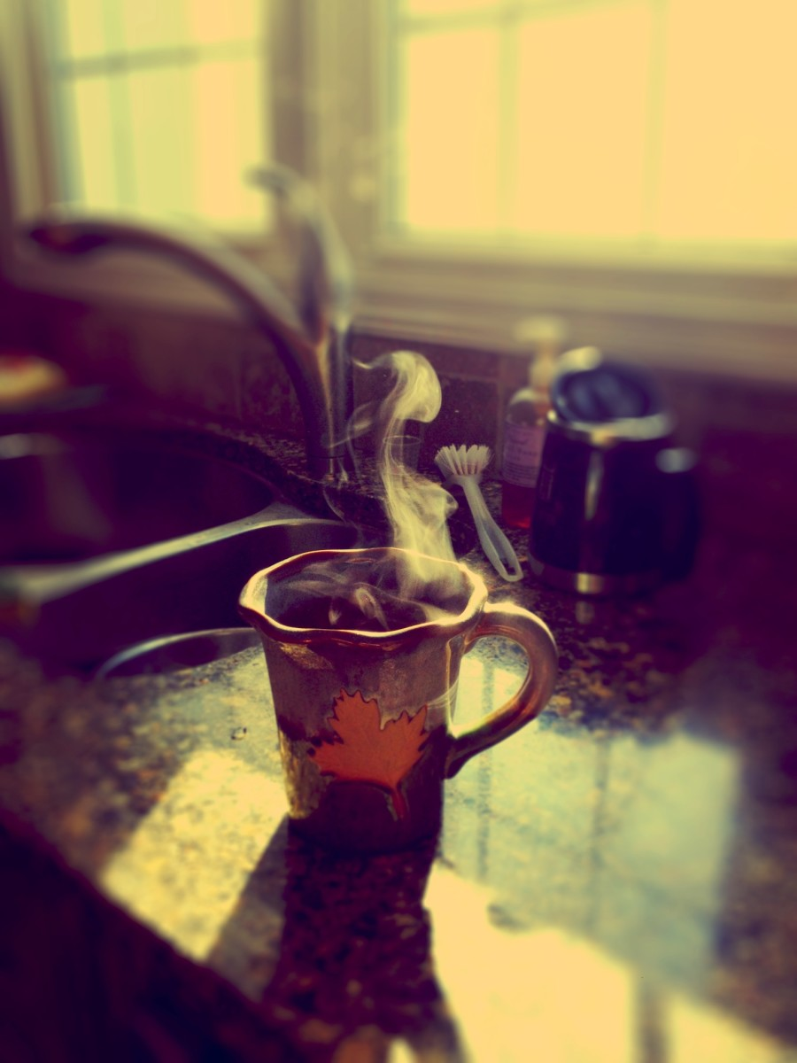 I always start my day with hot tea or coffee. The smell, taste, and feeling is great.