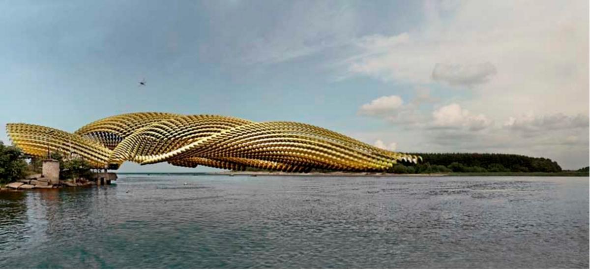 这座神奇的桥既是建筑艺术,又是有用途的。