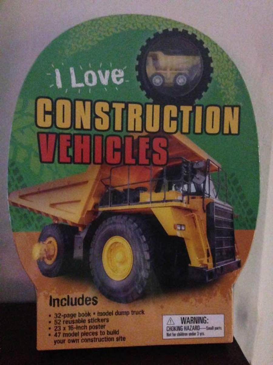 """I Love Construction Vehicles"": Book and Accessories for Your Young Builders"