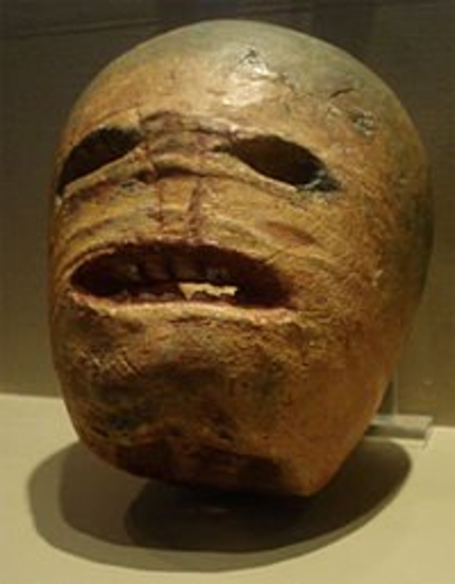 Sean na Gealai -- traditional Irish turnip jack-o-lantern.