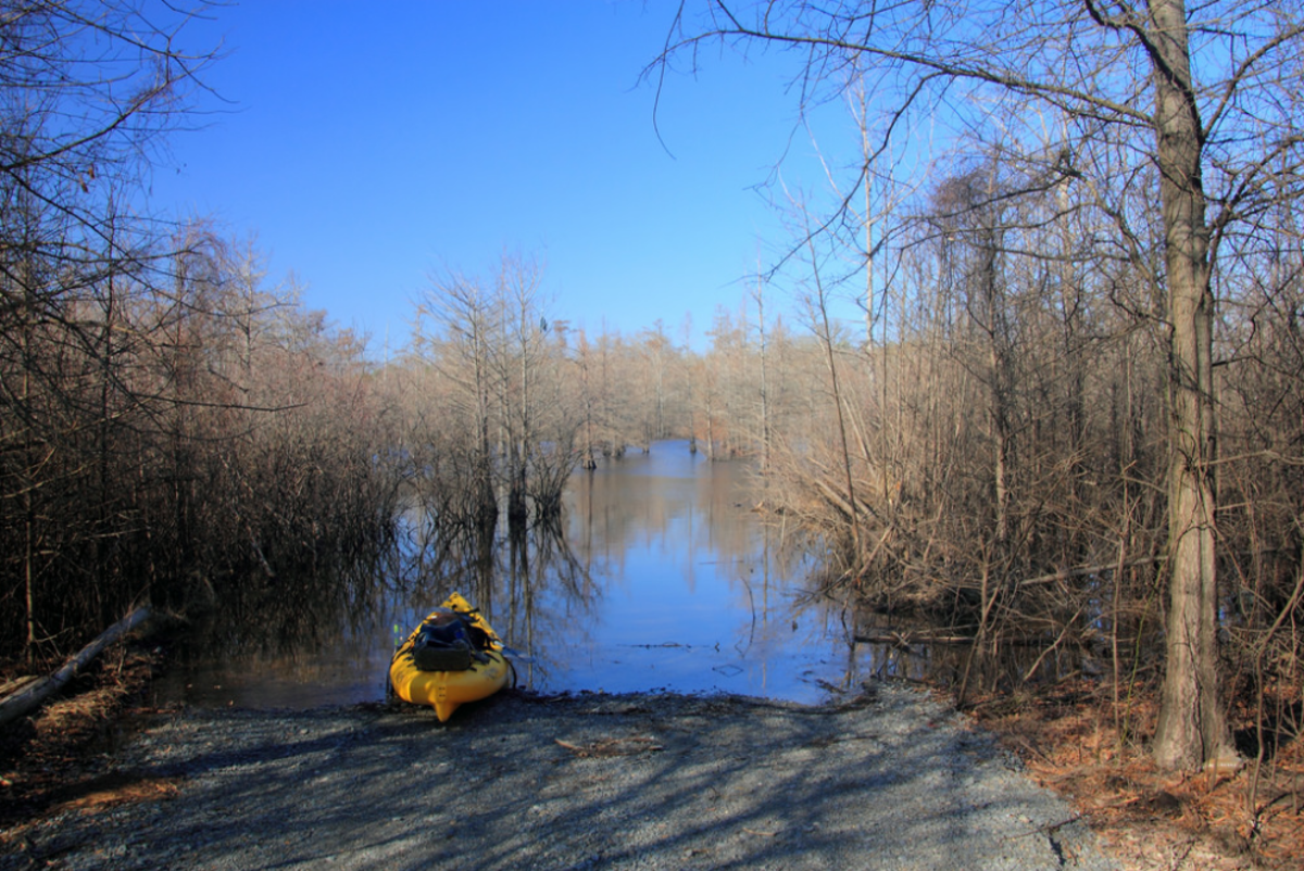 Kayaks are perfect for remote shore launches