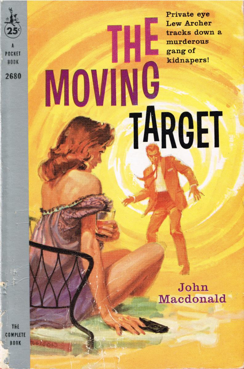 Early edition cover of Ross Macdonald's The Moving Target with art by Jerry Allison.