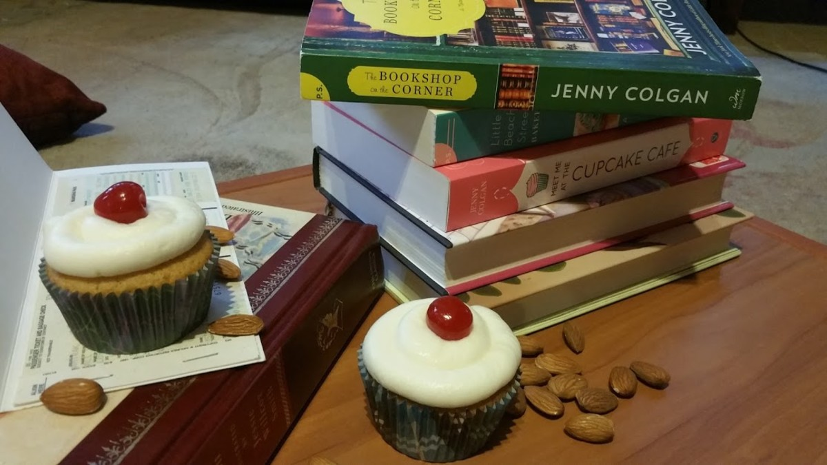 """The Bookshop on the Corner"" Book Discussion and Cherry Almond ""Bakewell"" Themed Cupcakes Recipe"