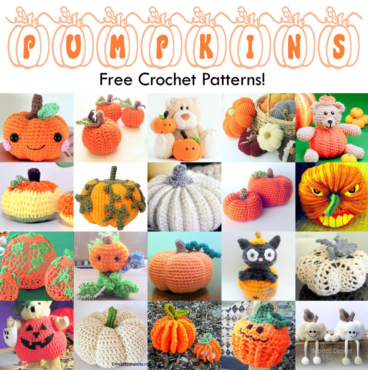 21 Free Fall And Halloween Pumpkins Crochet Patterns Feltmagnet