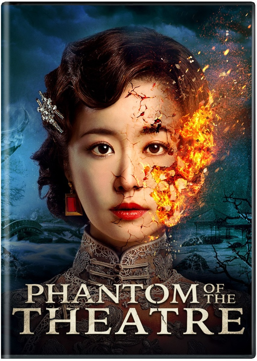 "The official DVD cover of ""Phantom of the Theatre."""
