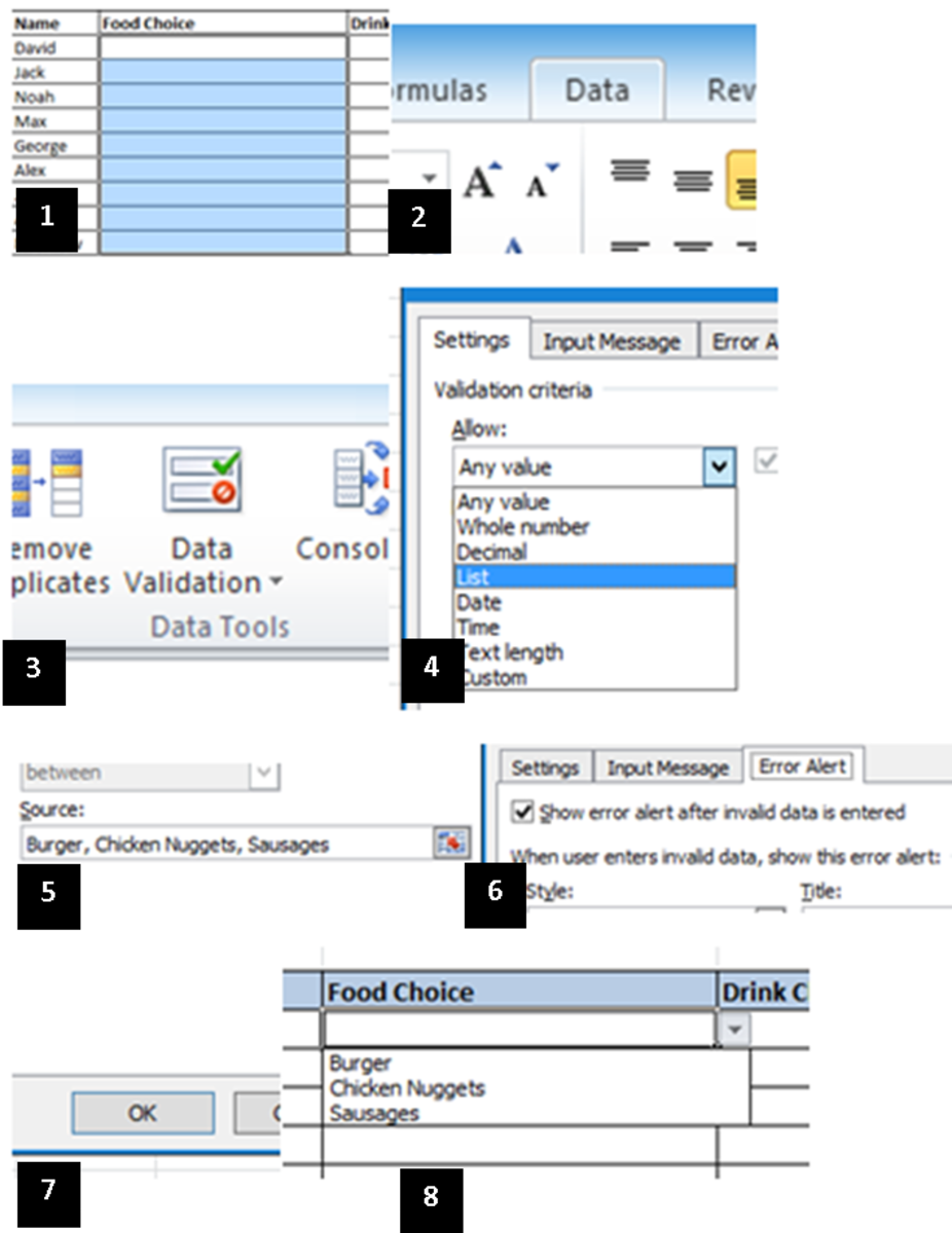 How to Create a Drop-Down Menu in Microsoft Excel