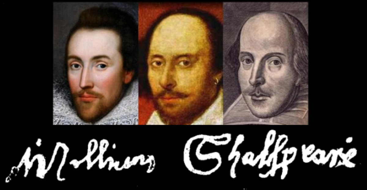 William Shakespeare, signature and known portraits.