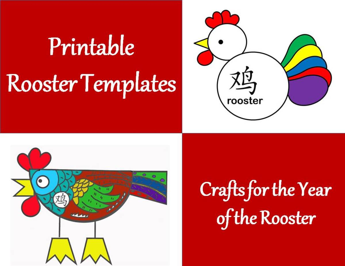 Printable Rooster Templates: Kid Crafts for Chinese New Year