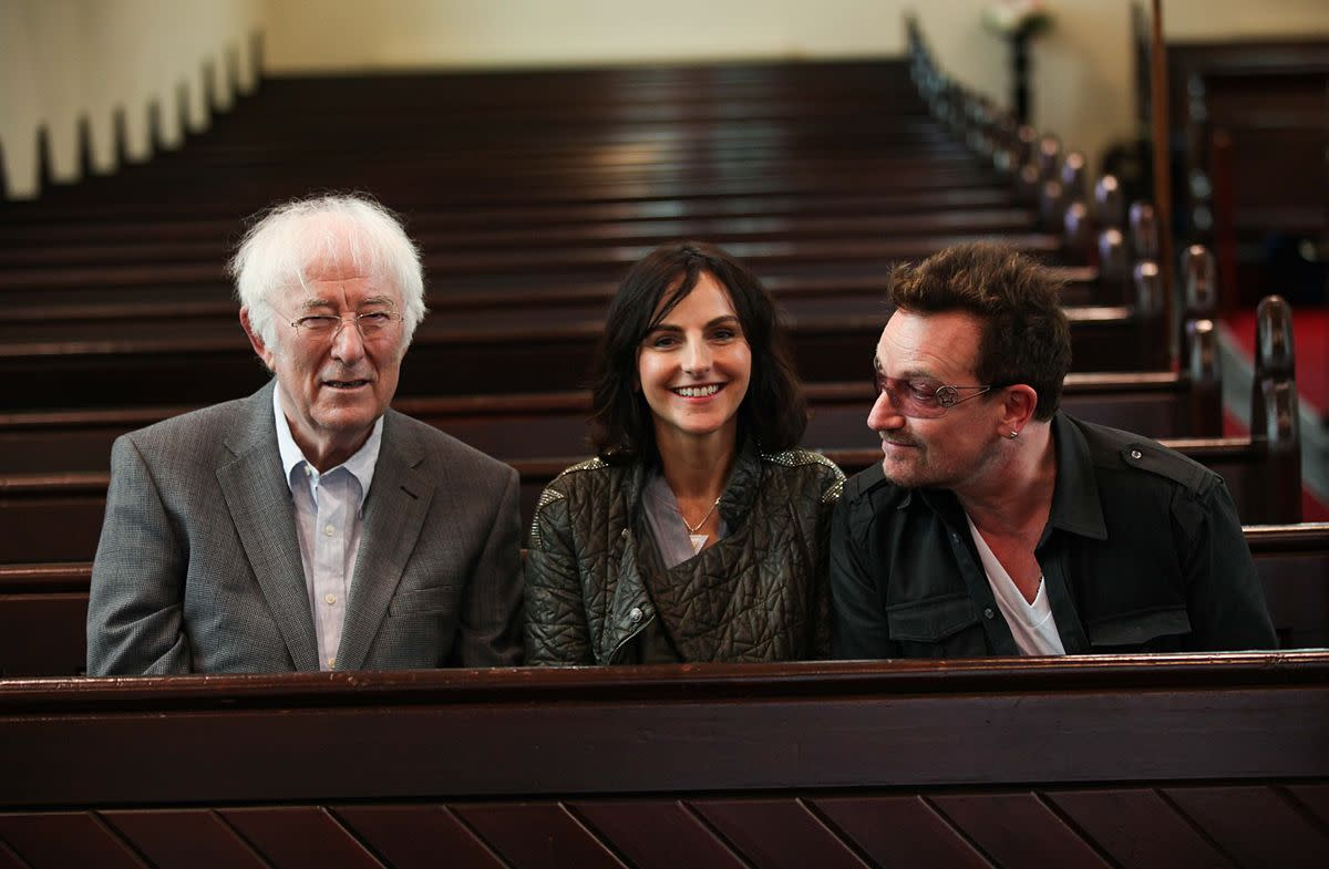 Seamus Heaney, on the left.