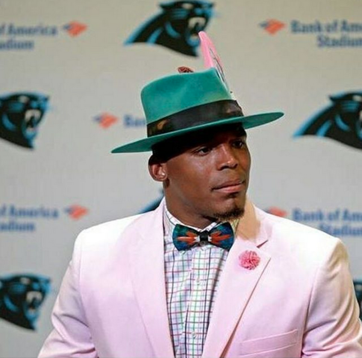 Cam Newton at his post game press conference