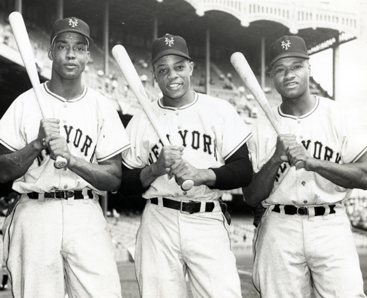 Monte Irvin, Willie Mays and Hank Thompson