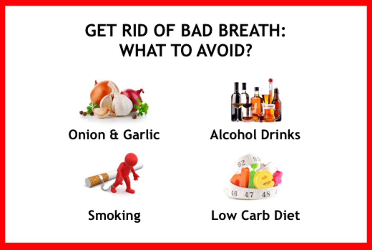 Many effective ways to get rid of bad breath.
