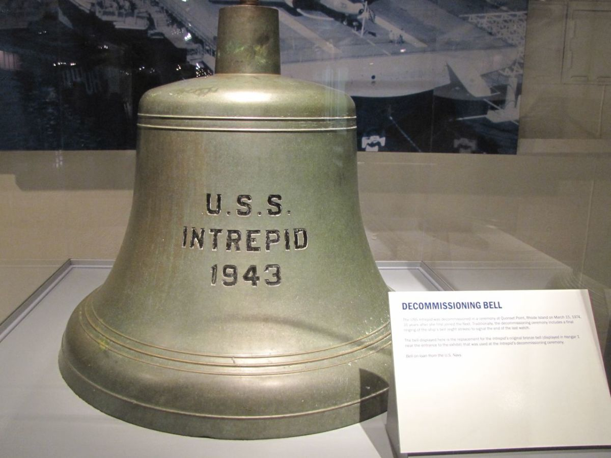 USS Intrepid Decommissioning Bell