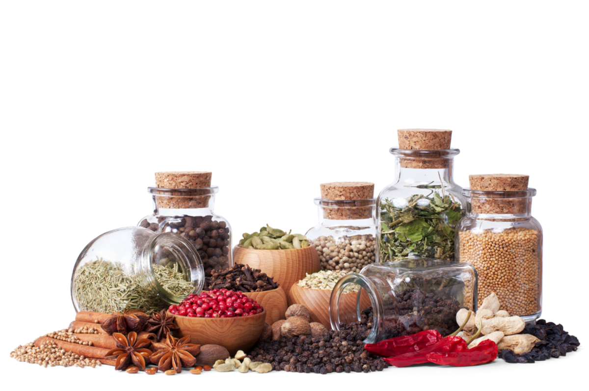 Spices that have the most phenol (anti-aging compound that also supports heart health): cloves, cinnamon, allspice, oregano, marjoram, sage, thyme, tarragon, and rosemary.