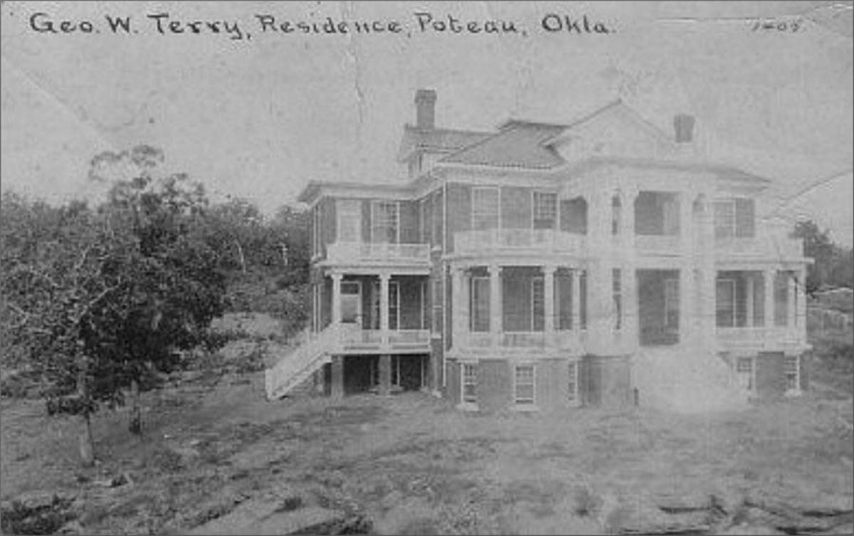 The Terry House on the Hill, or the Doc Woodson Home in Poteau, Oklahoma