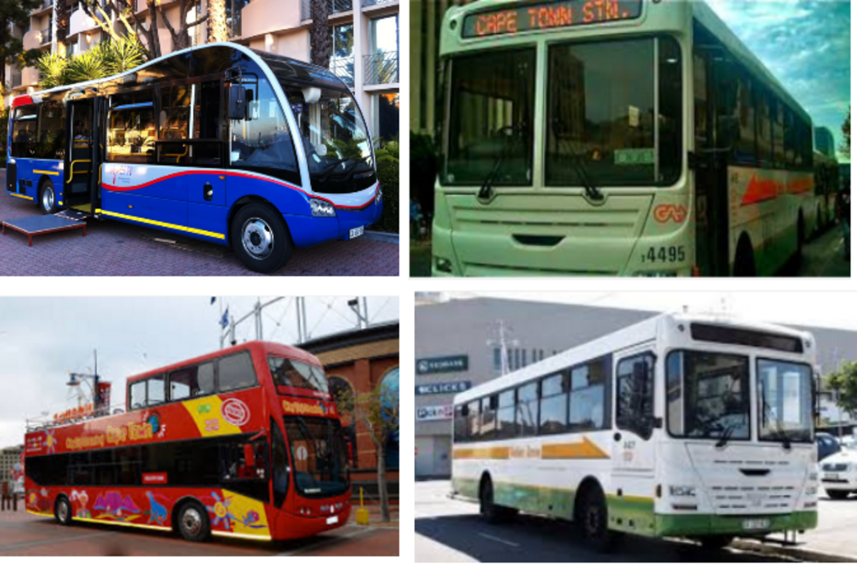 Cape Town offers buses for tourists as well as locals.